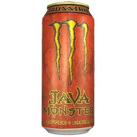 8 pack - monster java coffee + energy - russian 15oz.