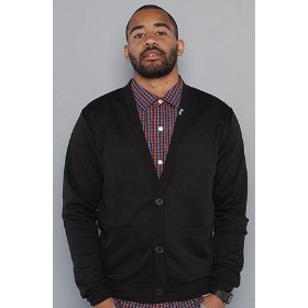 Lrg the shine on your dime cardigan in black,sweaters for men