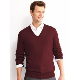 Banana republic silk/cashmere v-neck sweater