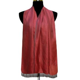 Beautiful soft red tone self design semi silk rectangular scarf, a gift for her scrf0030r