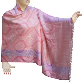 Handmade jamawar stole in cotton womens casual evening dress  stle0004r