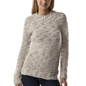 Mossimo supply co. juniors handknit pullover sweater - oatmeal