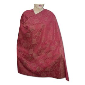 Handmade party wear cotton shawl with bootie design in center & plain border  shwl0052r