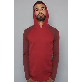 Rvca the 5 year hoodie in red stain,tops for men