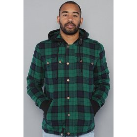 Lrg the milestone jacket in forest green,jackets for men