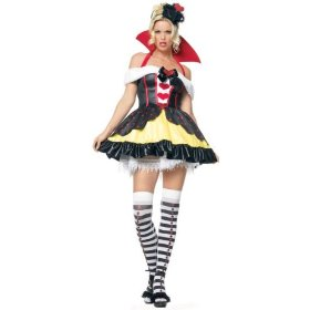 Adult sexy queen of hearts costume - leg avenue