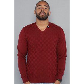 Lrg the shaken not stirred sweater in maroon,sweaters for men