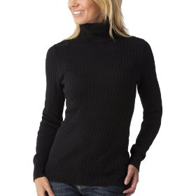 Merona® women's cable turtleneck sweater - black