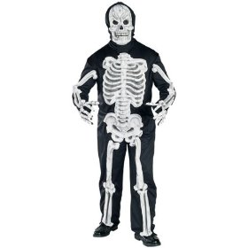 Plus size glow in the dark ghost costume