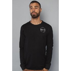 Rvca the quattro thermal top in black,tops for men