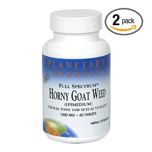 Planetary formulas horny goat weed 1200mg full spectrum (60tabs) (multi-pack)