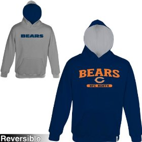 Reebok chicago bears boys (4-7) home & away reversible hooded sweatshirt