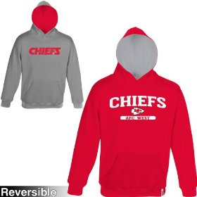 Reebok kansas city chiefs boys (4-7) home & away reversible hooded sweatshirt