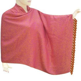 Handmade self leaf design soft cotton stole for special women stle0186r