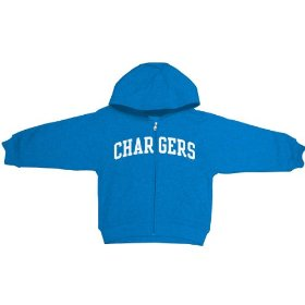 Reebok san diego chargers boys (4-7) full zip hooded sweatshirt