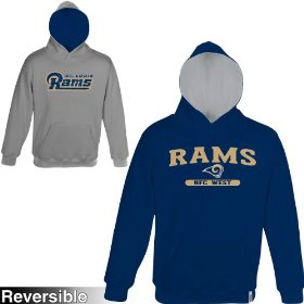 Reebok st. louis rams boys (4-7) home & away reversible hooded sweatshirt