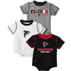 Reebok atlanta falcons infant 3 piece creeper set