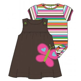 Carter's 2pc striped & butterfly jumper set