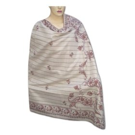 Hand painted cotton shawl women gift in jamawar design from india shwl0058r