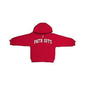 Reebok new england patriots infant full zip hooded sweatshirt