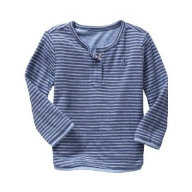 Gap double-knit snap henley shirt
