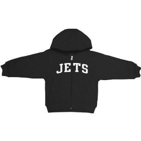 Reebok new york jets boys (4-7) full zip hooded sweatshirt