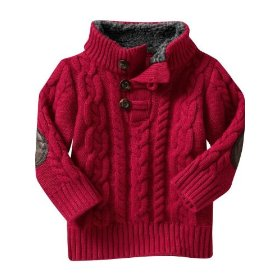 Gap sherpa cable knit sweater