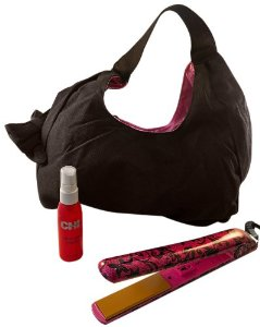 Farouk Chi PM7723 Pink Lace Limited Edition Ceramic Hairstyling Iron with Free Handbag and 2 Ounce C